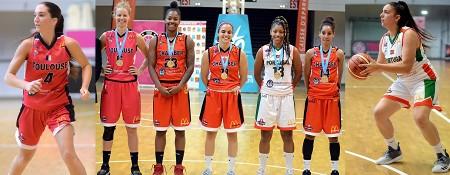 """Le """"5"""" du tournoi, avec Aline DUMONT (à gauche) et Margarida JUNQUEIRA (à droite)"""