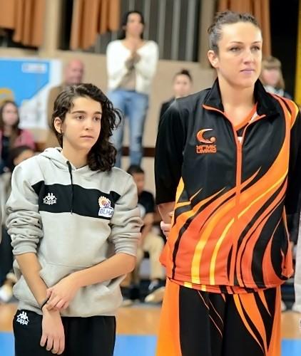 Ewelyna KOBRYN,ici avec Rachel ALCOVERO lors de la présentation des équipes fin 2014