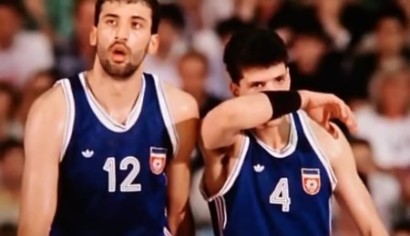 Vlade DIVAC et Drazen PETROVIC (photo extraite du film)