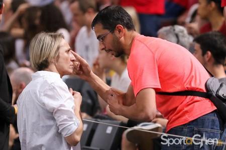 Dessislava ANGUELOVA, ici avec Romain LHERMITE à Bercy (photo Aline CHATEL/SportACaen)
