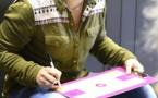 Julie VIGNAUX en mode consignes, ici lors du 1/8ème victorieux face au BLMA
