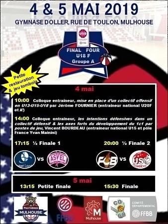 L'affiche du Final 4 U18 de Mulhouse