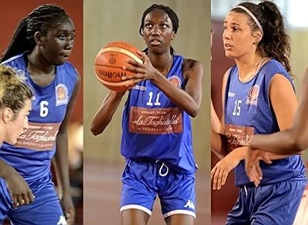 Les 3 nouveaux visages alignés ce soir : Dieyneba NIANG, Merveille LOKOKA et Eloé SOMMAZZI (de gauche à droite)