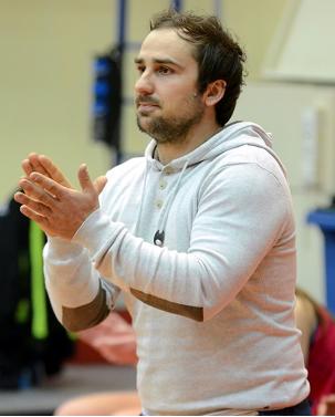 Béranger RUOL encourage ici ses joueuses lors du 1/8ème de finale victorieux contre le BLMA