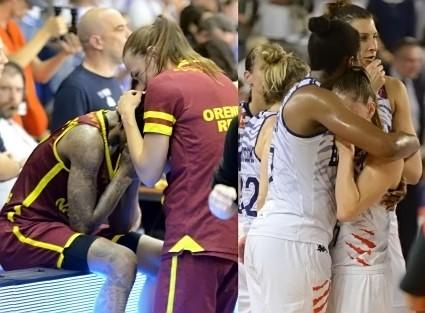 Les larmes n'ont pas le même goût pour Erica WHEELER ou pour Romane BERNIES : celui de la victoire pour l'une, de la défaite pour l'autre...