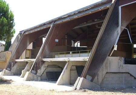 Les derniers gros travaux d'aménagement du Palais des Sports pendant l'été 2006