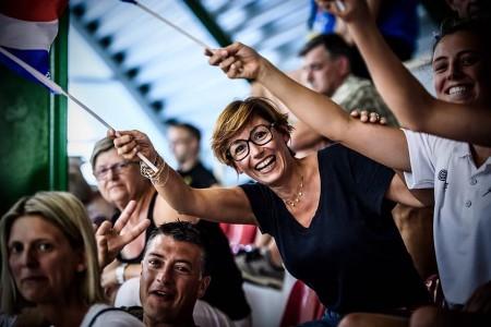 Alexandra FRANCHELIN n'a pas échappé à l'oeil aguerri du photographe de la FIBA