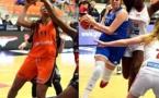 Gros match des deux numéros 11 de Bourges - Yasmina KAWARA - et Basket Landes - Sirine MEHADJI
